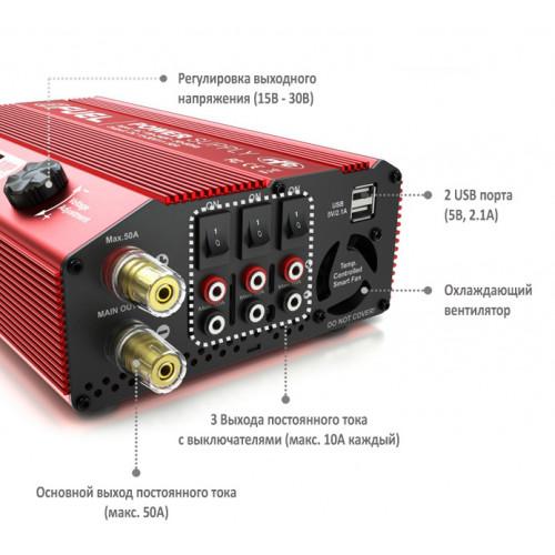 Блок питания SkyRC eFuel 50A/1200W Power supply 15-30В импульсный