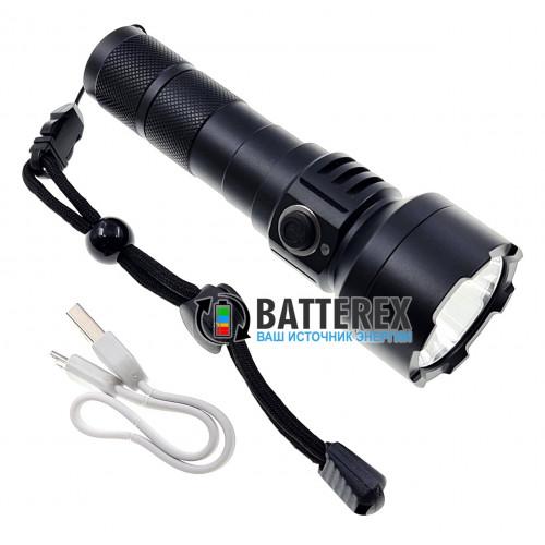 Фонарь Soshine TC15 USB - 3 режима яркости, алюминиевый корпус, 1100 люмен, USB-зарядка, защита от воды IPX-6