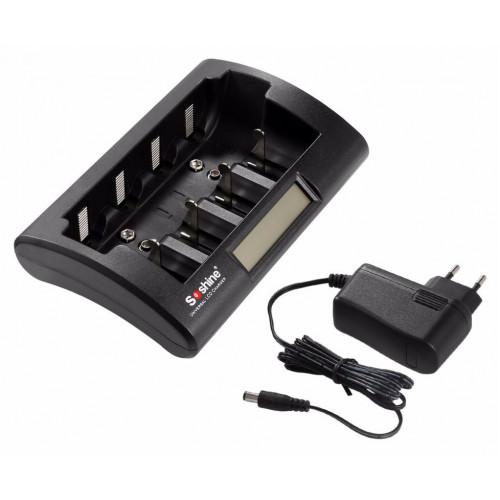 Soshine CD1 - 4х-канальное зарядное устройство для аккумуляторов AA, AAA, C R14, D R20, Крона 9V (8.4V и 9.6V)