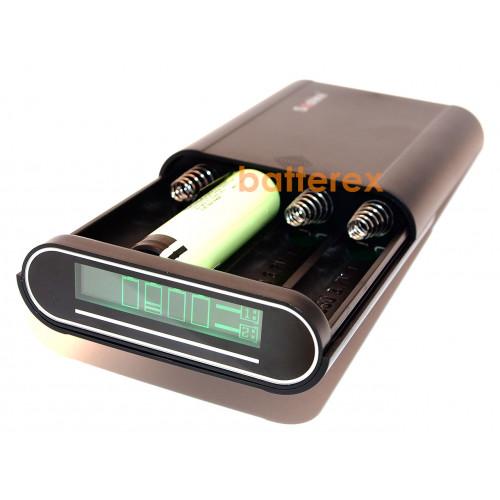 Soshine E3 - повербанк на 4 аккумулятора 18650 (LCD-дисплей, 2 выхода USB 1A/2A)
