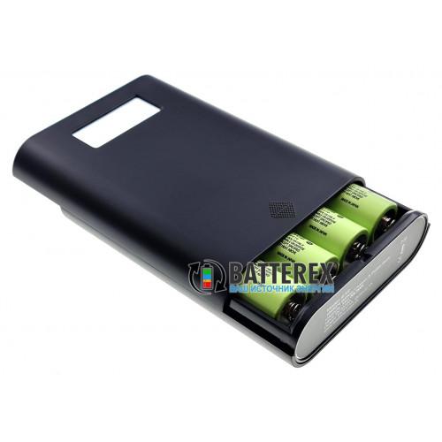 Soshine E3S - повербанк и зарядное устройство на 4 аккумулятора 18650 с дисплеем на 2 порта USB 5V 3.5A