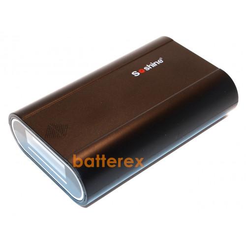 Soshine E5 - повербанк на 3 аккумулятора 18650 (LCD-дисплей, 2 выхода USB 1A/2A)