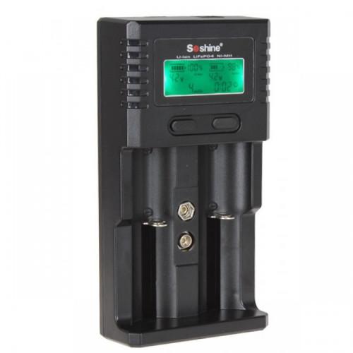 Soshine H2 - универсальное зарядное устройство для Li-ion, LiFePO4 и Ni-MH аккумуляторов AA, AAA, Крона, 18650 и др.