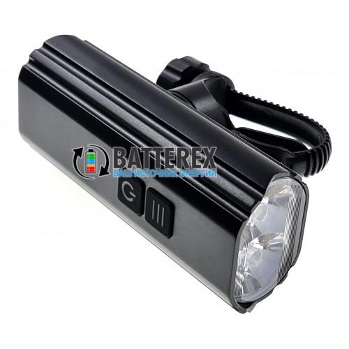 Soshine TB1 USB - велосипедный фонарь (3 режима яркости, 1800 люмен, батарея 5200mah, зарядка от USB Type-C, защита от воды IPX-6)