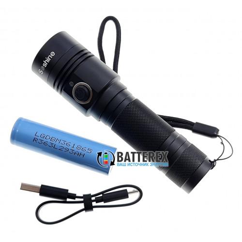 Фонарь Soshine TC14 USB 1100 люмен с зарядкой от USB + аккумулятор 18650 LG M36 3600mah