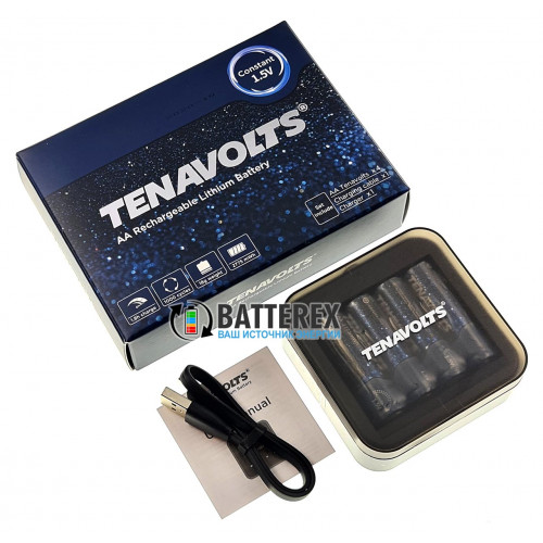 Tenavolts TS-C1 зарядное устройство на 4 AA/AAA Li-ion + 4 аккумулятора AAA Li-ion Tenavolts 1110mWh 1,5V