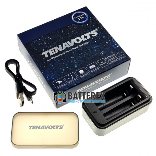 Tenavolts TS-C3 - зарядное устройство на 2 аккумуляторов Li-ion АА/AAA 1,5V