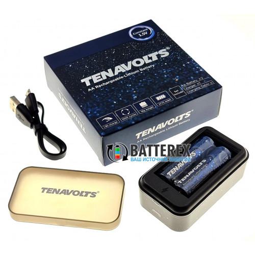 Tenavolts TS-C3 зарядное устройство на 2 AA Li-ion + 2 аккумулятора AA Li-ion Tenavolts 2775mWh 1,5V