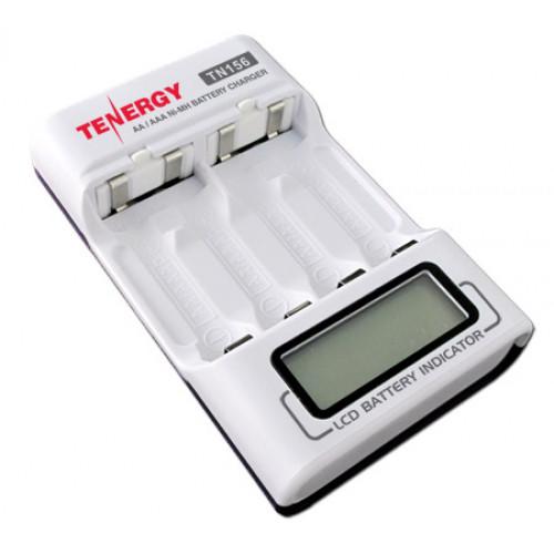 Tenergy TN156 - быстрое зарядное устройство на 4 AA/AAA + автоадаптер