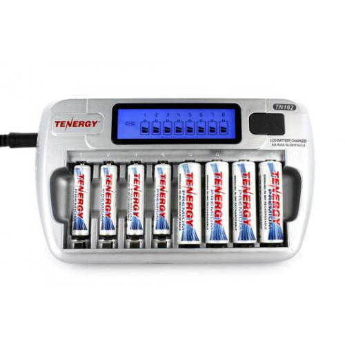 Tenergy TN162 - зарядное устройство на 8 аккумуляторов + автоадаптер