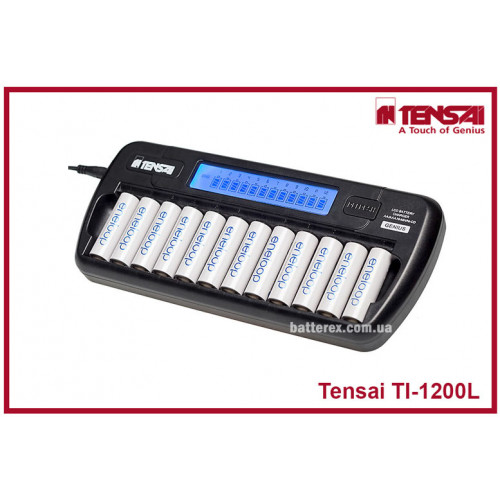 Tensai TI-1200L - зарядное устройство на 12 аккумуляторов АА/ААА