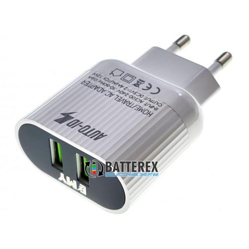 USB зарядное устройство EMY MY-A202 5V 2.4A на 2 выхода USB