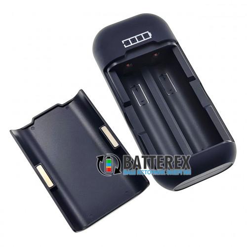 Vapcell P2 - повербанк и зарядное устройство на 2 аккумулятора 18650 с магнитной крышкой