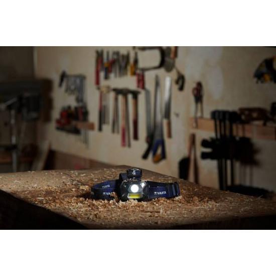 Налобный сенсорный фонарь Varta Work Flex Motion Sensor H20 150 люмен