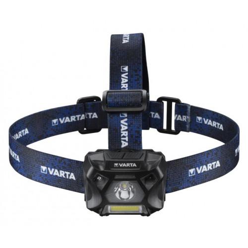 Varta Work Flex Motion Sensor H20 LED - сенсорный налобный фонарь 150 люмен (2 источника света, питание от 3х ААА)