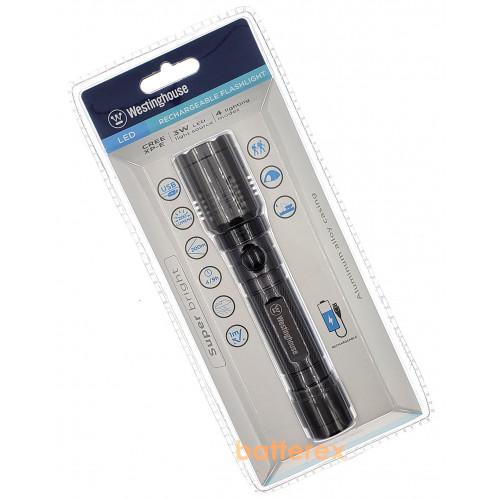 Westinghouse WF1507-DB - фонарь водозащищённый со встроенной USB-зарядкой + аккумулятор 18650 в комплекте (+скидка за регистрацию на сайте)