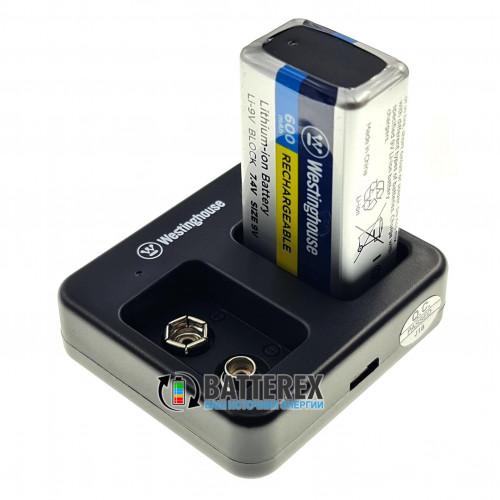 Westinghouse WBC-012-DB - 2х-канальное USB зарядное устройство для аккумуляторов Крона Li-ion