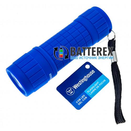 Westinghouse WF87 синий - карманный прорезиненный фонарик + 3 батарейки ААА в комплекте