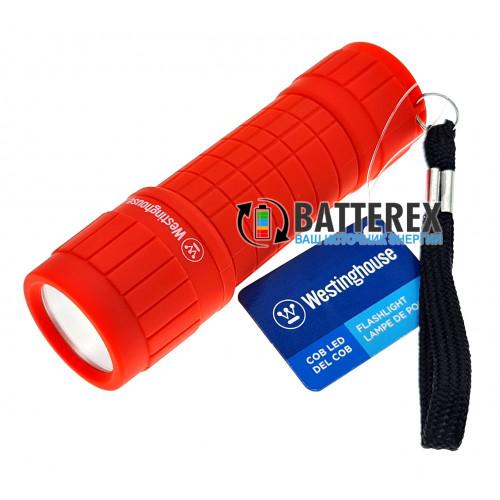 Westinghouse WF87 красный - карманный прорезиненный фонарик + 3 батарейки ААА в комплекте