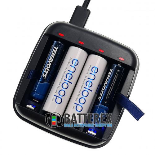XTAR BC4 - универсальное зарядное устройство для АА/AAA аккумуляторов Li-ion 1.5V и NiMH 1.2V с функцией повербанка и фонарика