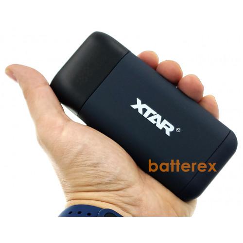 XTAR PB2S Black - повербанк на 2 аккумулятора 18650/20700/21700 с функцией быстрого заряда QuickCharge