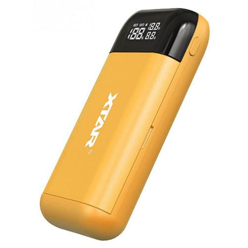 XTAR PB2S Yellow - повербанк на 2 аккумулятора 18650/20700/21700 с функцией быстрого заряда QuickCharge