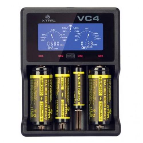 XTAR VC4 - универсальная зарядка для аккумуляторов Li-Ion/Ni-MH с измерением ёмкости. Оригинал, гарантия 12 месяцев
