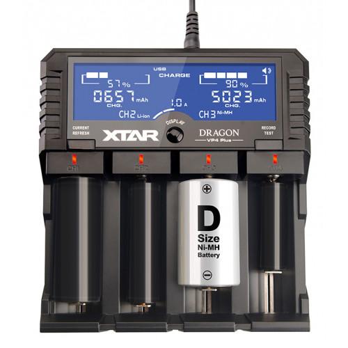 XTAR VP4 Plus Dragon - многофункциональное продвинутое зарядное устройство для Li-Ion/Ni-MH аккумуляторов