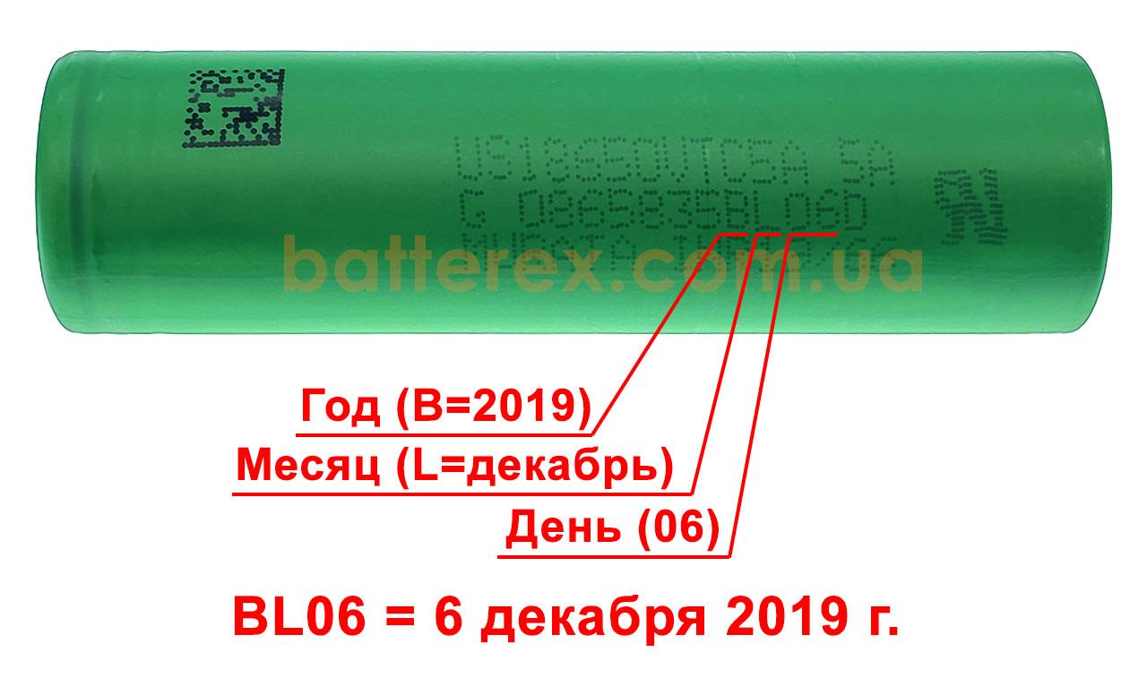 дата выпуска 18650 sony murata