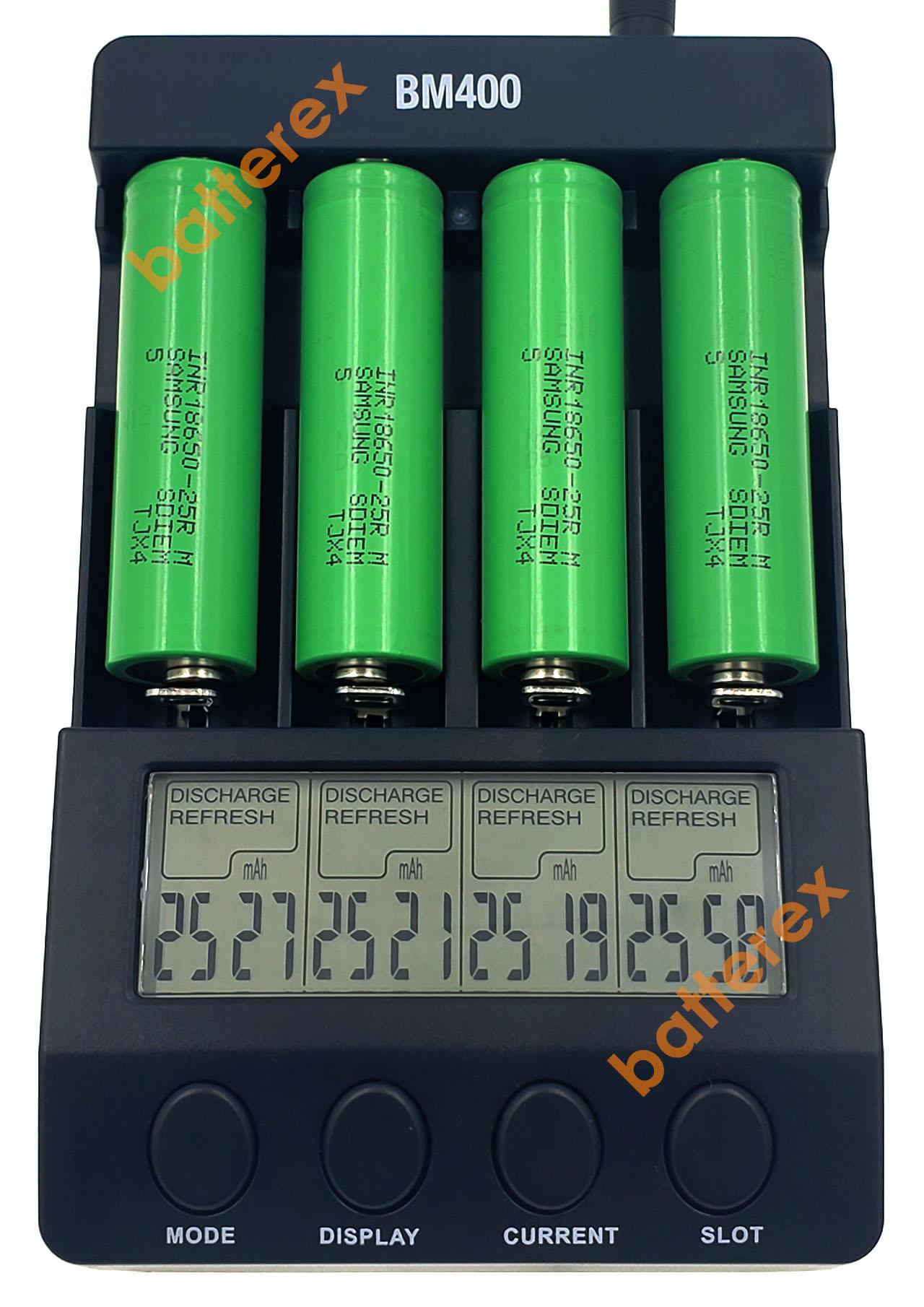 тест ёмкости 18650 Samsung 25R 2500mah TJX4