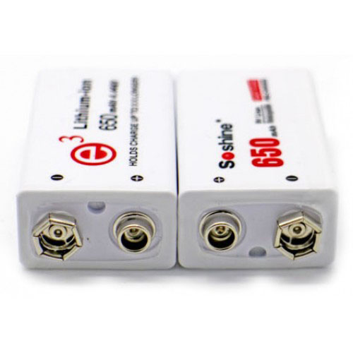 li-ion soshine 9v 650mah