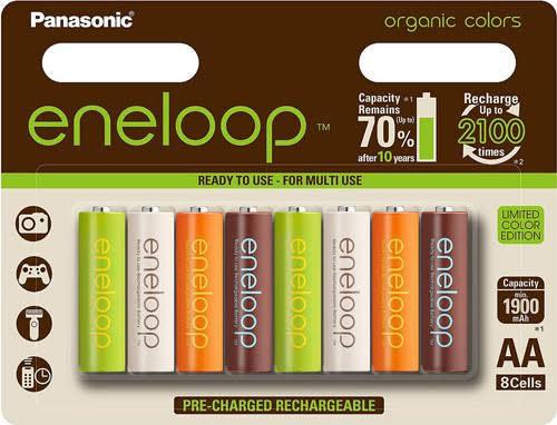 Panasonic Eneloop 2000mah Organic Colors Limited Edition