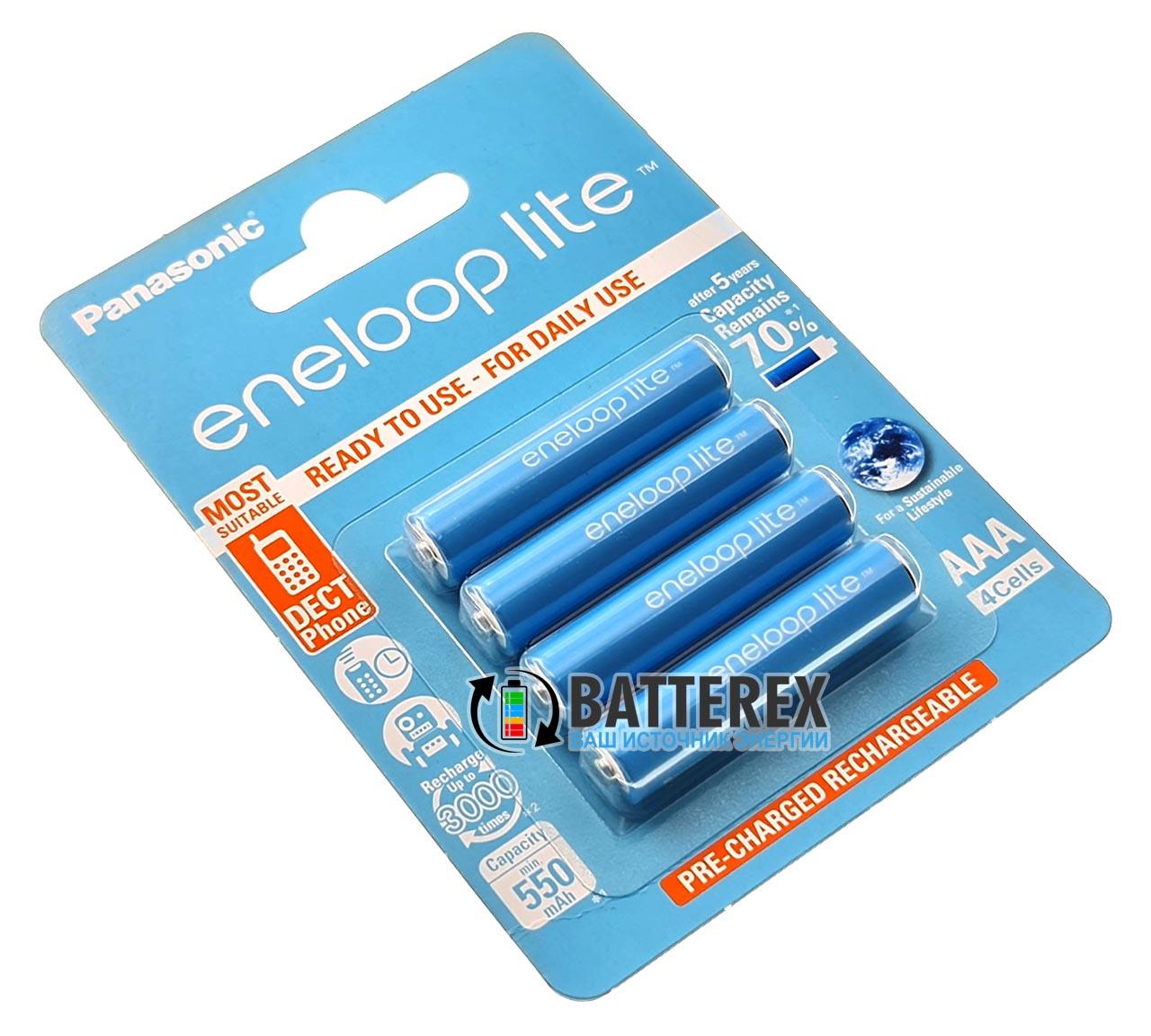 Аккумуляторы AAA Panasonic Eneloop Lite 600 mah BK-4LCCE/4BE