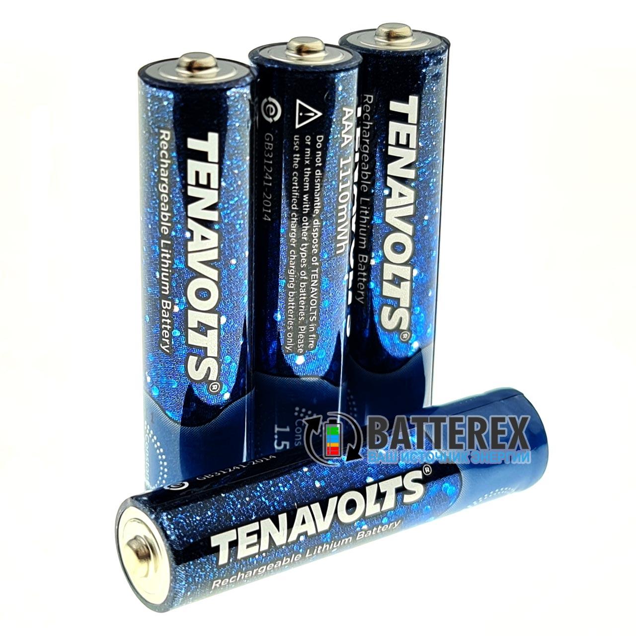 Аккумулятор ААА литий-ионный 1,5V Tenavolts 1110mWh 740mah