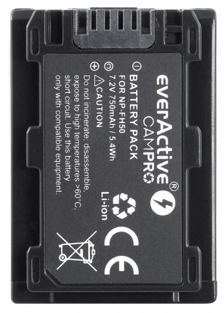 Sony NP-FH50 7.2V 750mah 5.4Wh