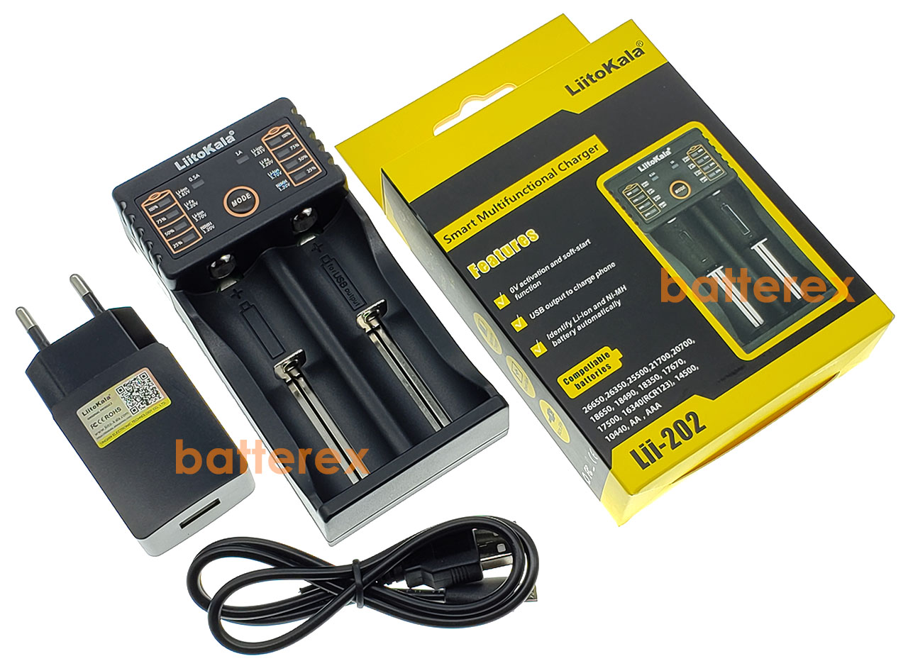 Liitokala Lii-202 + USB Liitokala 5V 2A