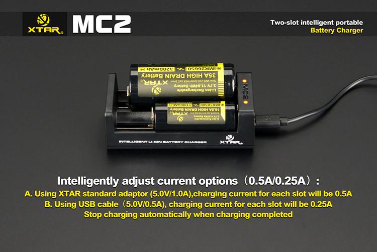 XTAR MC2 зарядное устройство