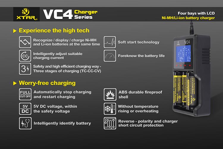 зарядка XTAR VC4