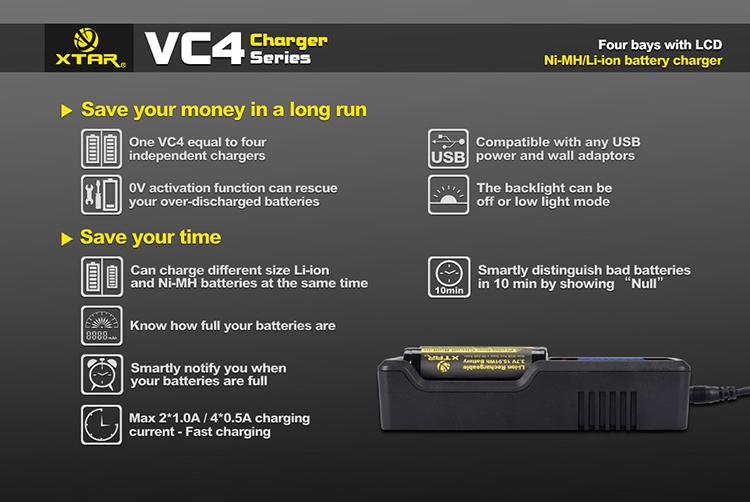 купить зарядку XTAR VC4