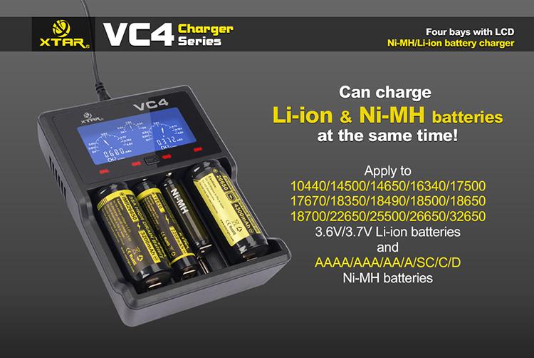 XTAR VC4 зарядка